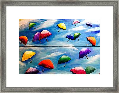 Happines In The Sky Framed Print
