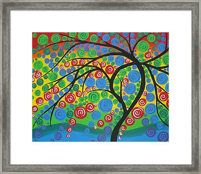 Happiness In Full Bloom Framed Print by Cathy Jacobs