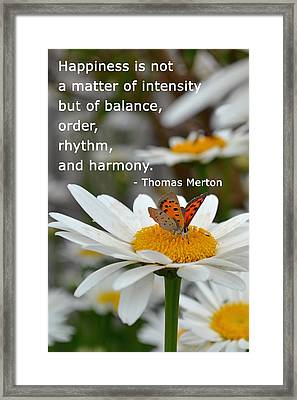 Happiness Is Balance Framed Print