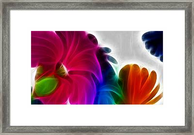 Framed Print featuring the digital art Happiness by Karen Showell