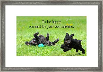 Happiness. Framed Print by Kelly Nelson