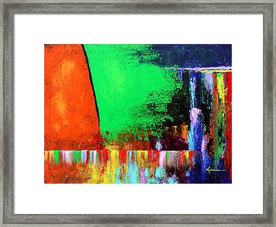 Framed Print featuring the painting Happiness by Kume Bryant