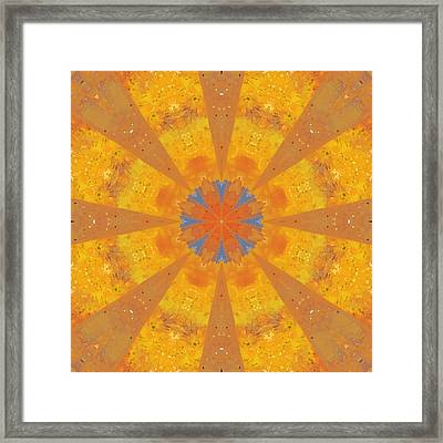 Happiness Mandala Framed Print by Beth Sawickie