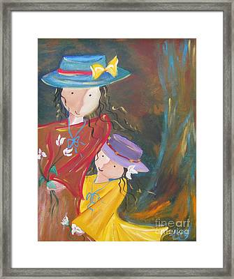 Framed Print featuring the painting Happiness by Nereida Rodriguez