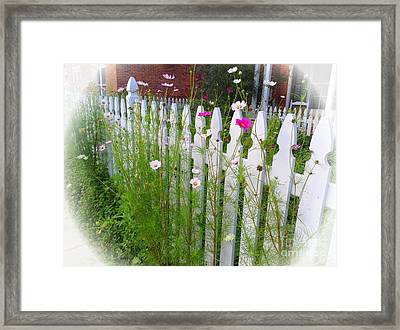 Happiness On The Fence Framed Print