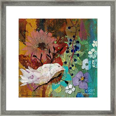 Framed Print featuring the painting Happiness by Robin Maria Pedrero