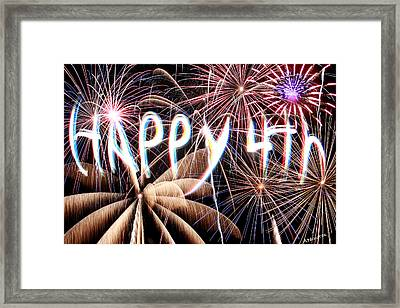 Happy 4th Framed Print by Andrew Nourse