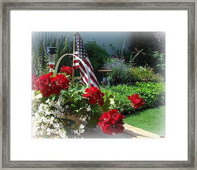 Happy 4th Flowers Framed Print by Heidi Manly