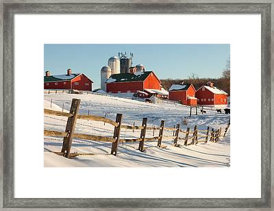 Happy Acres Farm Framed Print by Bill Wakeley