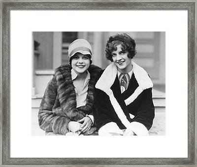 Happy Actresses Framed Print