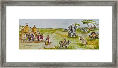Happy Africa Framed Print