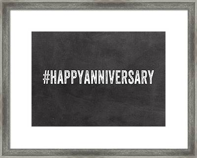 Happy Anniversary- Greeting Card Framed Print