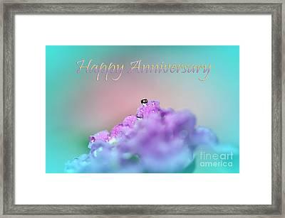 Happy Anniversary Framed Print by Kaye Menner