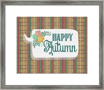 Happy Autumn Framed Print by Jo Moulton