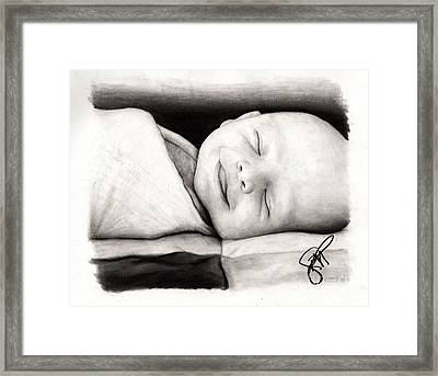 Happy Baby Framed Print by Rosalinda Markle
