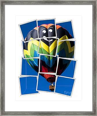 Happy Balloon Ride Framed Print by Edward Fielding