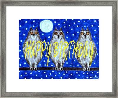 Happy Birthday 13 Framed Print by Patrick J Murphy