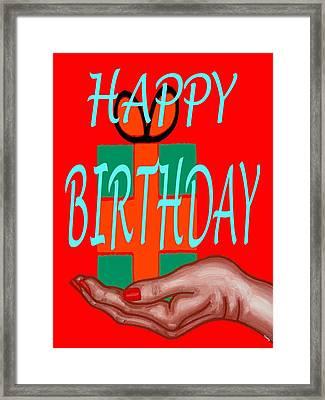 Happy Birthday 3 Framed Print by Patrick J Murphy