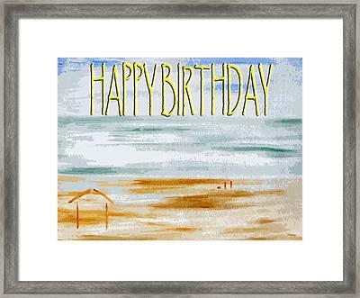 Happy Birthday 53 Framed Print