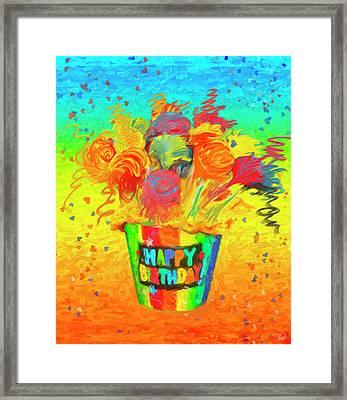 Happy Birthday Framed Print by Angela A Stanton
