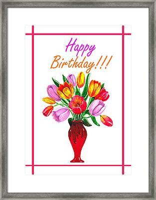 Happy Birthday Bouquet  Framed Print