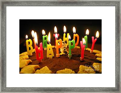 Happy Birthday Candles Framed Print