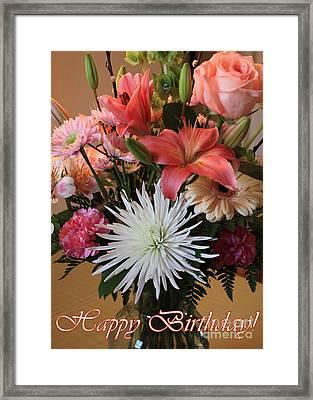 Happy Birthday Card Framed Print