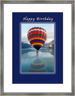Happy Birthday Hot Air Ballon Framed Print by Michael Peychich