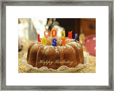 Happy Birthday I Framed Print