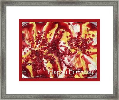 Happy Birthday Ice Cream Card Framed Print by Ausra Huntington nee Paulauskaite