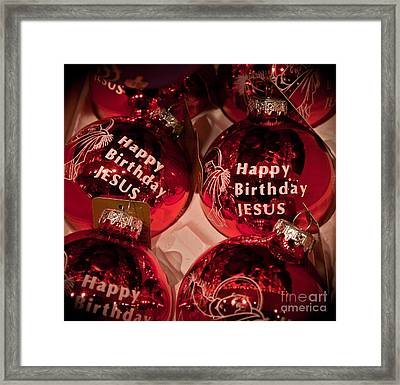 Happy Birthday Jesus Framed Print