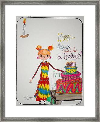 Happy Birthday Framed Print by Mary Kay De Jesus