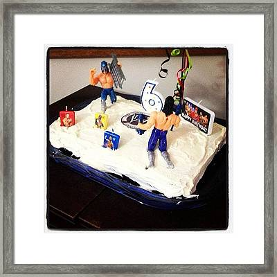 Happy Birthday Mason!! 🎉🎉 #cake Framed Print