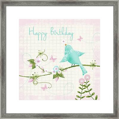 Happy Birthday Framed Print by P.s. Art Studios