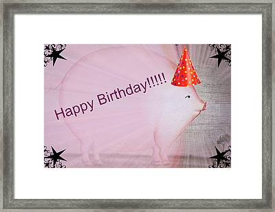 Happy Birthday Framed Print by Sherman Perry