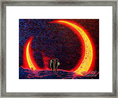 Happy Birthday Sister Or For Ever Romantics Framed Print by Viktor Lazarev