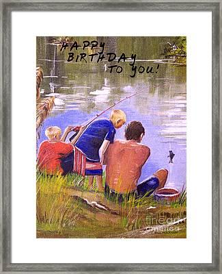 Happy Birthday To You Framed Print