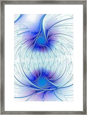 Happy Blue Lights Framed Print by Anastasiya Malakhova