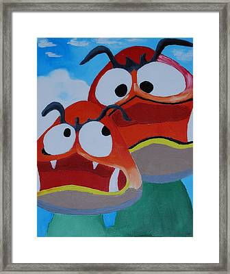 Happy Brothers Framed Print