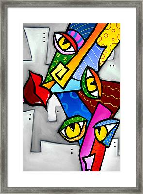Happy By Fidostudio Framed Print by Tom Fedro - Fidostudio