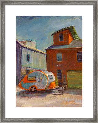 Happy Camper Framed Print by Athena  Mantle
