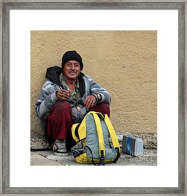 Happy Camper Framed Print by Joe Jake Pratt
