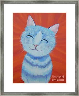 Happy Cat Framed Print