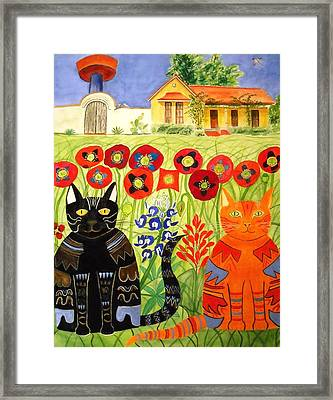 Happy Cats Framed Print