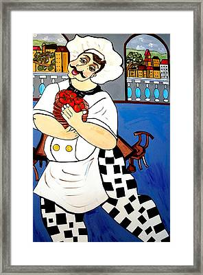 Chef  Happy Chef Framed Print