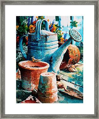 Happy Chores Framed Print by Hanne Lore Koehler