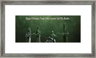 Happy Christmas From John Lennon Framed Print