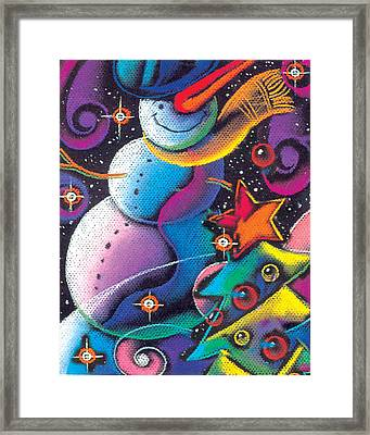 Happy Christmas Framed Print by Leon Zernitsky