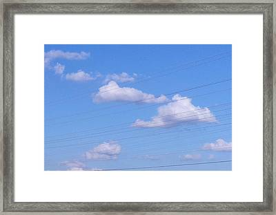 Happy Cloud Day Framed Print