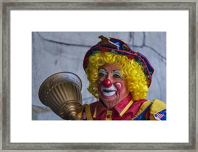 Happy Clown Framed Print by Susan Candelario